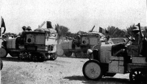 The tracked Citroën vehicles used for the expedition